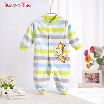 Polar Fleece Baby Rompers Autumn/Winter Clothes Long Sleeve Coveralls for Newborns Boy Girl  Baby Clothing