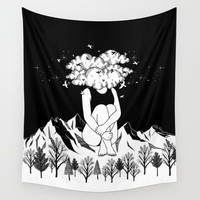 Across The Universe Wall Tapestry by hennkim