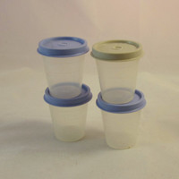 Vintage Tupperware 2 oz Condiment Cups