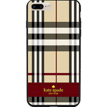 NEW Beauty Kate Spade Pattern Cool Stripes Hard CASE COVER iPhone 6s 6s+ 7 7+