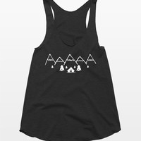 Mountains and Camping Tank Top