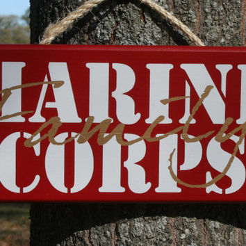Marine Corps USMC FAMILY Parents Mom Dad Military sign