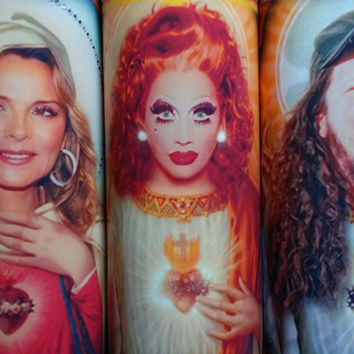"Bianca Del Rio Candle -  RuPaul Drag Race - 8"" ""Not Tonight Satan, Not Tonight""  Celebrity Tribute Candle - Heavenly geekery"