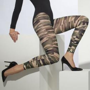 Footless Camouflage Tights  Fv-24065