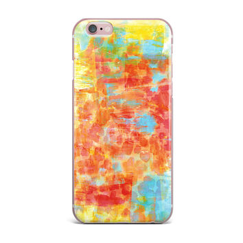 "Ebi Emporium ""Pastel Jungle"" Orange Red iPhone Case"