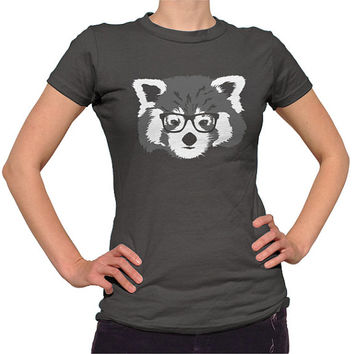 Red Panda With Glasses T-Shirt - Hipster Red Panda T-Shirt - Mens and Ladies Sizes Small-3X - (Please see SIZING CHART in Item Details)