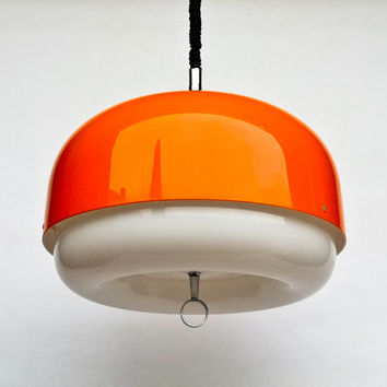Large Vintage Space Age Ceiling Lamp /  Atomic Pendant Lamp / 70's Retro Home Decor / Meblo Guzzini