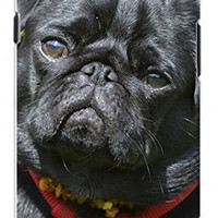 Adorable Black Pug Dog Direct Print (not a sticker) Unique Quality Soft Rubber TPU Case for Samsung Galaxy S4 I9500 - White Case
