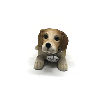 Rare Vintage Russ Berrie Beagle Dog Bobble Head / Bobblehead Nodding Dog / Vintage Car Dashboard Decor / Car Ornament / Car Accessories