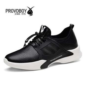 SIKAINI Smile Men Sneakers Shoes-Factory-Direct Trainers PU Leather Upper Professional