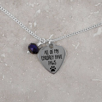 Gift for pet owner, pet paw, dog lover, cat lover, animal rescue, pet person, keepsake gift, necklace, under 20 dollars, free shipping USA
