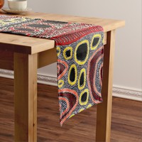African Tribal Abstract Art Short Table Runner