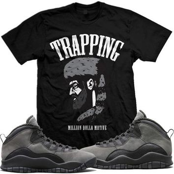 Jordan Retro 10 Shadow Sneaker Tees Shirt - TRAPPING