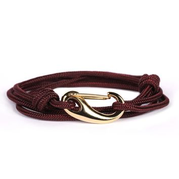 Maroon + Gold Tactical Cord Men's Bracelet