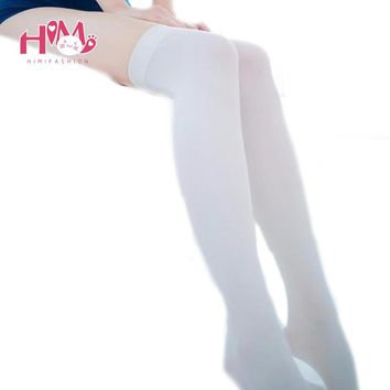 Harajuku Fashion Kawaii Stockings Women Tights Stockings Silk Lolita Stockings White/Black Sexy Ladies Pantyhose Free Shipping