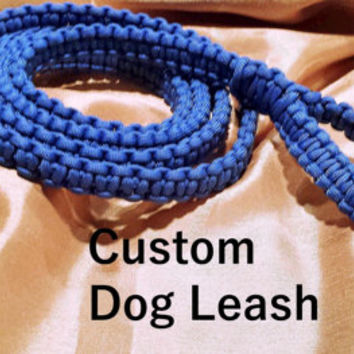 Custom Paracord Dog Leash - Custom Dog Accessories - 7' Dog Leash - Custom Color Leash - 550 Paracord - Paracord Leash - Dog Accessories
