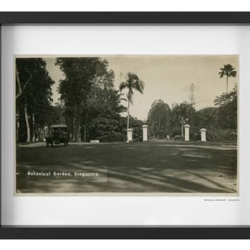 Vintage 1920's Botanical Garden Gate in Singapore Art Print