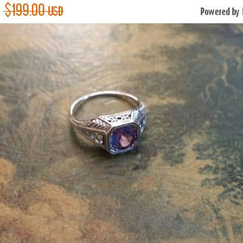 SUMMER END SALE Alexandrite Color Changing Size 6 Ring Gemstone. 925 Sterling  Silver  Etsy Gift Sale