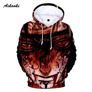 Aikooki Autumn Winter 3D Naruto Hoodies Thin Stylish 3d Sweatshirts Men/Women  With Hat Print Naruto 3D Hooded Hoody Tops Clothe