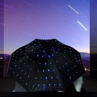 Blue LED Light-up Twinkle Umbrella 5-pack
