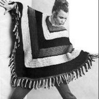 Crochet Poncho Classy and Easy Vintage PDF Pattern Retro Boho Hippie Fashion Not a finished product It is a PDF Pattern