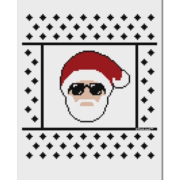 "Cool Santa Christmas Sweater Aluminum 8 x 12"" Sign"