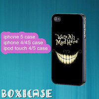 Alice Wonderland Cheshire Cat---iphone 4 case,iphone 5 case,ipod touch 4 case,ipod touch 5 case,in plastic,silicone and black,white.