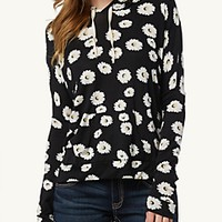 Daisy Jersey Hooded Pullover