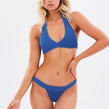 Blue Bond-Eye Bikini - The Mini
