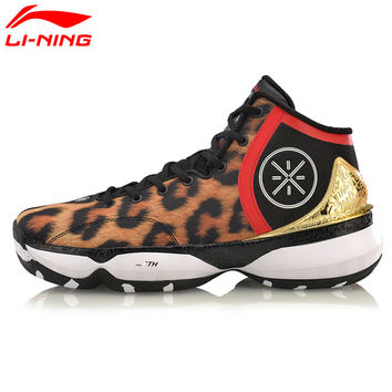 Li-Ning Men's Wade Professional Basketball Shoes Breathable Li Ning Hard-Wearing Cushion Stability Sports Sneakers ABAM017