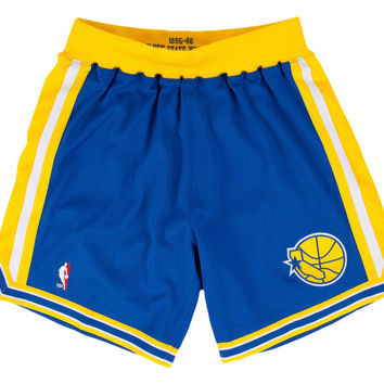 Golden State Warriors 1995-1996 NBA Authentic Shorts
