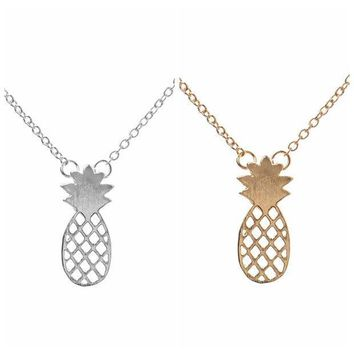 ESBONG Gift New Arrival Jewelry Pineapple Shiny Stylish Lovely Silver Hot Sale Accessory Necklace [8804715335]
