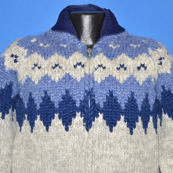 80s Tuak Cowichan Hand Knit Wool Sweater Small