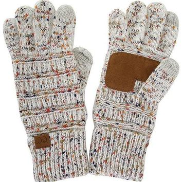 Oatmeal Confetti CC Smart Touch Gloves
