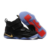 Nike LeBron Soldier 11 EP Black/Gold Basketball Shoes US7-12