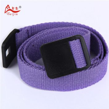 2.5cm webbing Waist Belt Candy Color Mens Womens Unisex Plain Webbing Canvas plastic Buckle Belt Personal Tailor