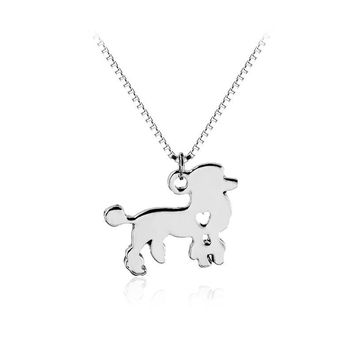 Silver/Gold Poodle Necklace Custom Pet Lover Necklace Dog Pendant Pet Jewelry Personalized Pets Puppy Groomer Gifts Dog lovers