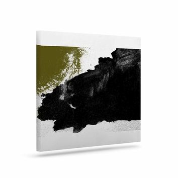 Imprints - Black Gold Abstract Painting Art Canvas