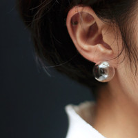 OOO - good quality Bulb / Glass orb / Soap Bubble Fashion earrings