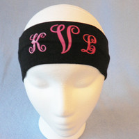 Monogrammed Sports Headband, Personalized Sports Headband,Custom Stretch Headband, Yoga Headband, Girl Gift, Christmas Stocking Stuffer