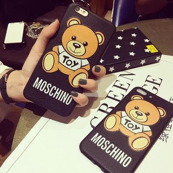 MOSCHINO Iphone 7plus mobile phone shell apple 6 cell phone pack 6p soft shell hipster