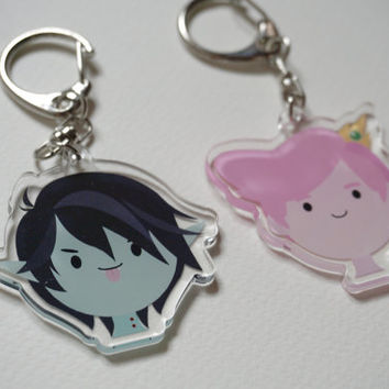 Adventure Time Marshall Lee & Prince Gumball acrylic charms