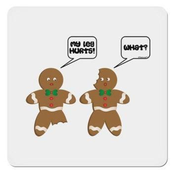DCKL9 Funny Gingerbread Conversation Christmas 4x4' Square Sticker