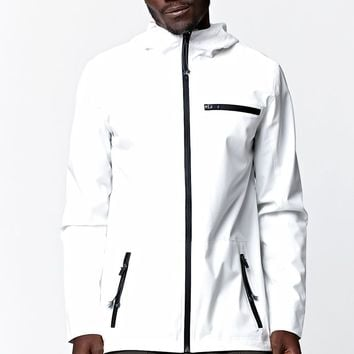 Modern Amusement Solid Tech Jacket - Mens Jacket - White - Medium