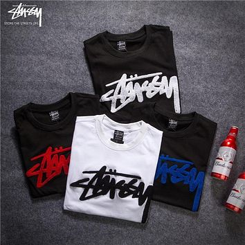 2018 Stussy Women Men Fashion Casual Shirt Top Tee -3