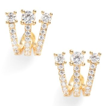 Melinda Maria Katherine Crystal Huggie Earrings | Nordstrom