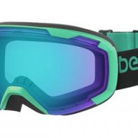 Bern - Scout Black / Green Goggles, Green / Blue Light Mirror Lenses