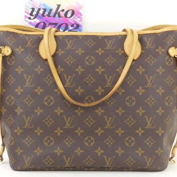 LMFON Tagre? r61132 Auth LOUIS VUITTON Neverfull MM Monogram SP3077 Shopper Tote Bag M40156