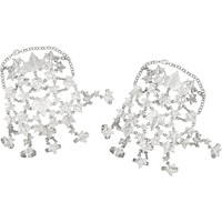 Alexander McQueen - Set of two silver-plated ivy leaves finger bracelets
