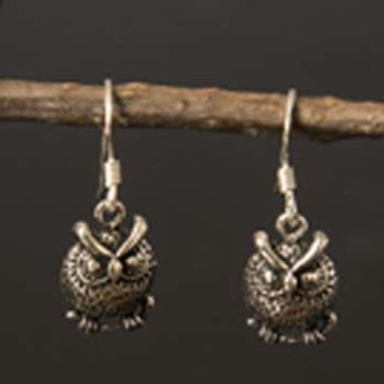 Sterling Owlet Earrings